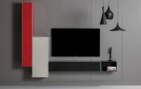 Møbler fra Sonorous monteret på væggen